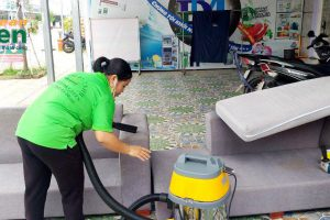 Trải nghiệm ngay dịch vụ giặt ghế sofa vải tại nhà của Green Clean