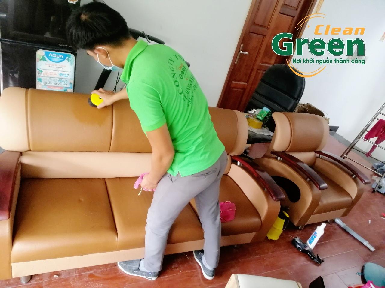 Dịch vụ giặt ghế sofa tại nhà Green Clean
